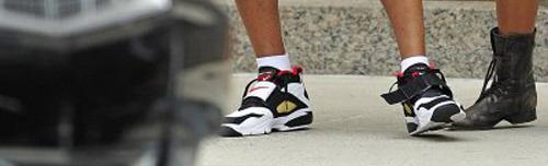 13b6182c40b3 Rapper T.I. wearing the Nike Air Diamond Turfs.