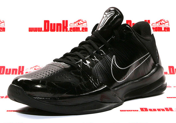 "quality design 60c00 81284 Nike Zoom Kobe 5 ""Blackout"" Now Available  Karmalifee"